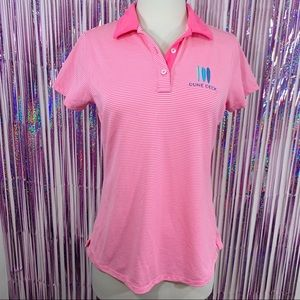 Vineyard Vines Performance Pink Striped Polo Shirt
